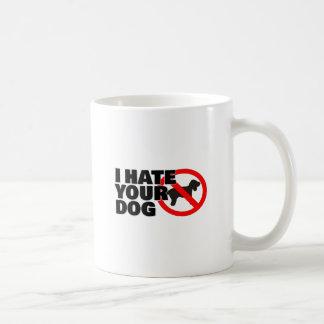 I hate yourdog basic white mug
