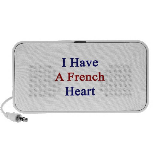 I Have A French Heart Travelling Speaker