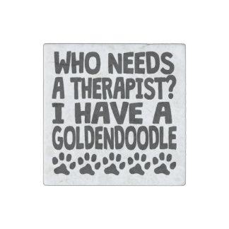 I Have A Goldendoodle Stone Magnet