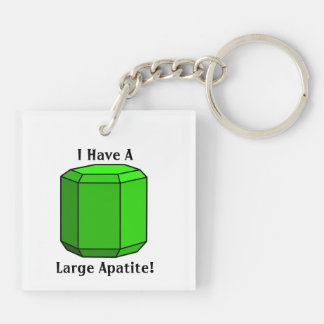 I Have a Large Apatite! Double-Sided Square Acrylic Key Ring
