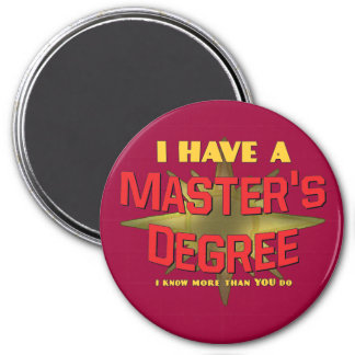 I Have a Master's Degree! 7.5 Cm Round Magnet