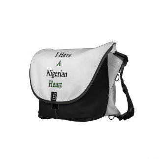 I Have A Nigerian Heart. Commuter Bags