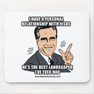 I HAVE A PERSONAL RELATIONSHIP WITH JESUS MOUSEPADS