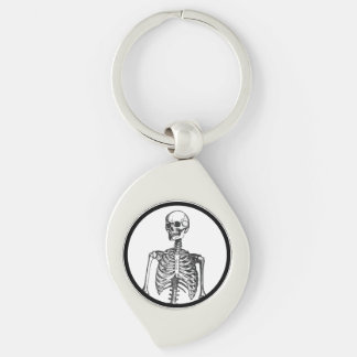 I have an actual human skeleton in my office Silver-Colored swirl key ring