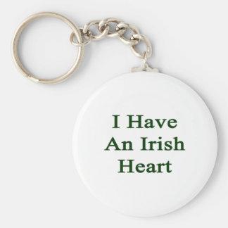 I Have An Irish Heart Basic Round Button Key Ring