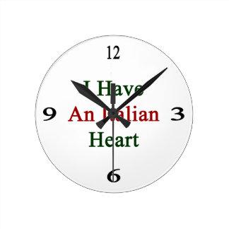 I Have An Italian Heart Round Clock