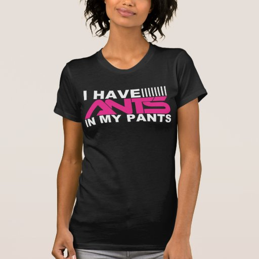 I Have Ants In My Pants [Girls Tee - BLACK]