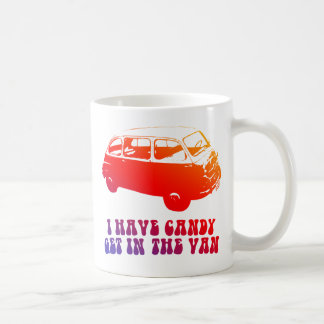 I Have Candy, Get In The Van Basic White Mug