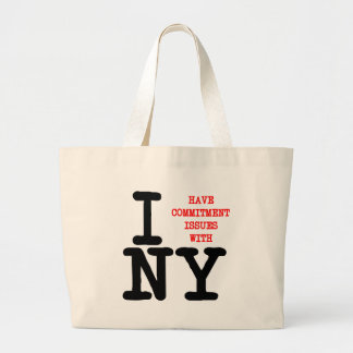 I Have Commitment Issues With NY Canvas Bag