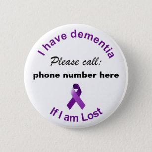 8f985f42ddd Dementia Badges & Pins   Zazzle UK