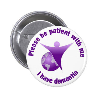 I have Dementia Purple Angel Support Button Badge