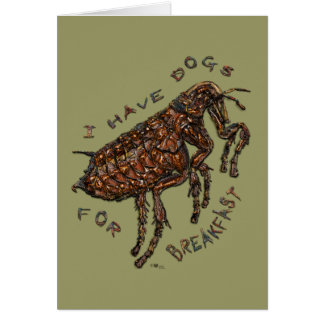 I Have Dogs for Breakfast Greeting Cards