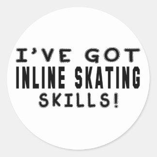 I Have Got Inline Skating Skills Stickers