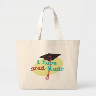 I have GRAD-itude - Funny Graduation Jumbo Tote Bag