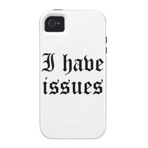 I Have Issues iPhone 4/4S Cover