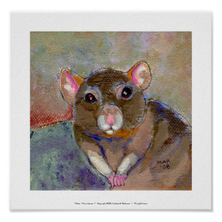 I Have Issues - fun sensitive pet rat painting art Poster