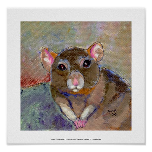 I Have Issues - fun sensitive pet rat painting art Posters