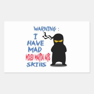 I Have Mad Mixed martial arts Skills Rectangular Sticker