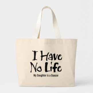 I Have No Life (Black) Jumbo Tote Bag
