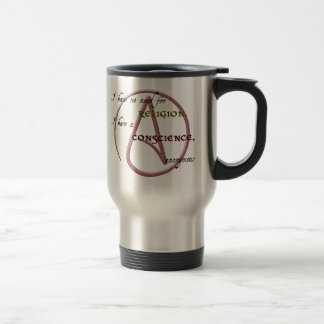 I Have No Need for Religion with Atheist Symbol Coffee Mugs