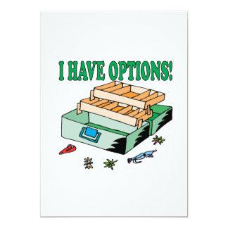 I Have Options 13 Cm X 18 Cm Invitation Card