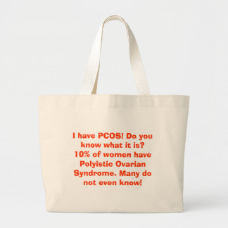 I have PCOS! Do you know what it is?10% of wome... Jumbo Tote Bag