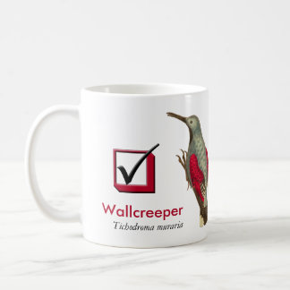 I Have Seen the Wallcreeper Birder's Check Box Coffee Mug