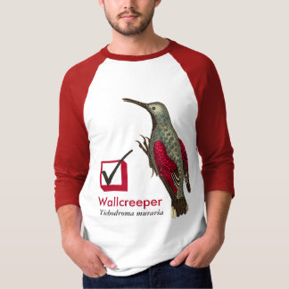 I Have Seen the Wallcreeper Check Box for Birder T-Shirt