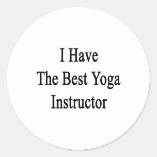 I Have The Best Yoga Instructor Round Sticker