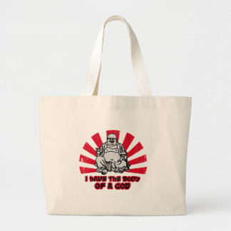 i have the body of a god jumbo tote bag