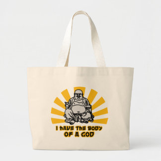 i have the body of a god tote bags