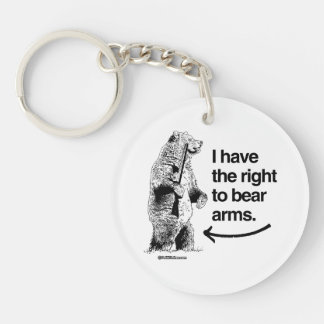 I HAVE THE RIGHT TO BARE ARMS Double-Sided ROUND ACRYLIC KEY RING