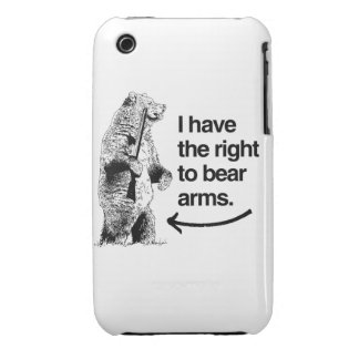 I HAVE THE RIGHT TO BEAR ARMS iPhone 3 CASE