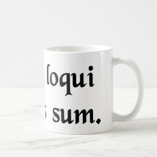 I have this compulsion to speak Latin. Basic White Mug