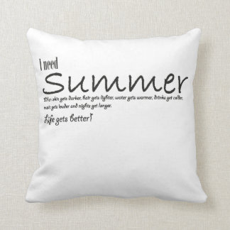 I have to summer necessary quote kiss blank throw pillow