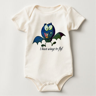 I have wings to fly Bat baby body suit Baby Bodysuit