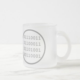 I have written a computer program that I use Frosted Glass Mug