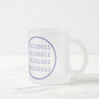 I have written a program that others use regularly frosted glass mug