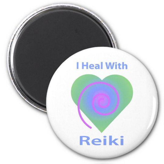 I Heal with Reiki 6 Cm Round Magnet