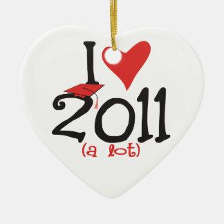 I heart 2011 a lot - Senior Class of 2011 Christmas Ornament