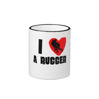 I Heart A Rugger Ringer Mug