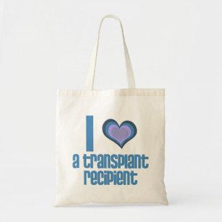 I *heart* a transplant recipient budget tote bag
