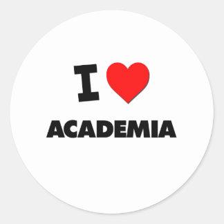 I Heart Academia Round Sticker
