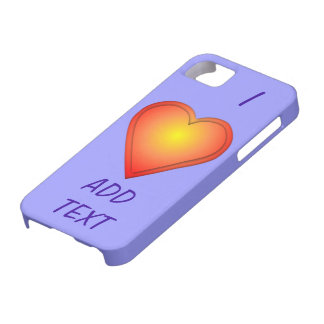 I HEART Add Text Barely There iPhone 5 Case