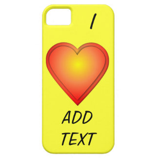 I HEART Add Text iPhone 5 Case