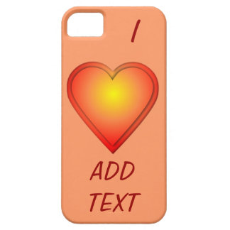 I HEART Add Text iPhone 5 Cover