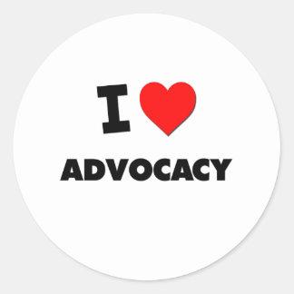 I Heart Advocacy Stickers