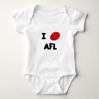 I heart AFL Baby Bodysuit