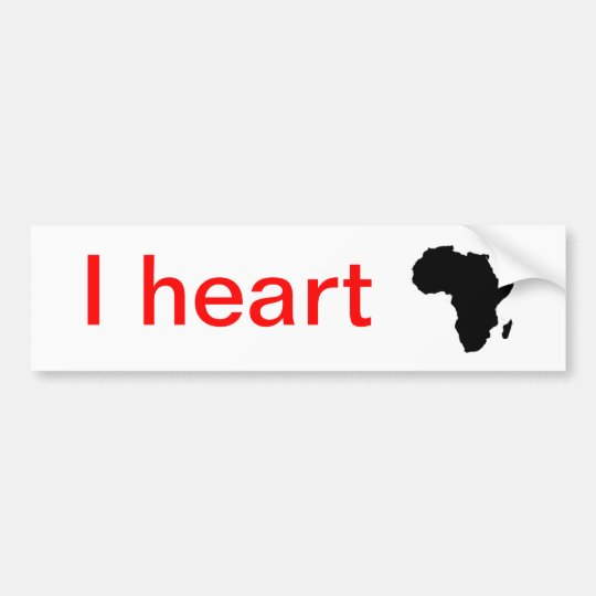 I heart Africa... Bumper Sticker