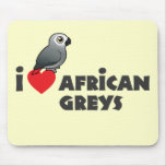 I Heart African Greys Mouse Pad